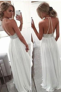 Backless Beading Real Made Prom Dresses Long Evening Dresses Prom Dresses On Sale D74