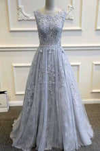 Load image into Gallery viewer, A-Line Appliques Sexy A-Line Long Cheap Prom Dresses Evening Dress Formal Women Dresses F66