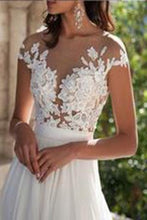 Load image into Gallery viewer, See through wedding dresses Sexy lace prom dresses Beach wedding gown Prom dresses sexy prom dresses RS385