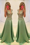 Sexy Appliques Prom Dresses Long Evening Dresses Prom Dresses On Sale T189