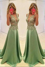 Load image into Gallery viewer, Sexy Appliques Prom Dresses Long Evening Dresses Prom Dresses On Sale T189