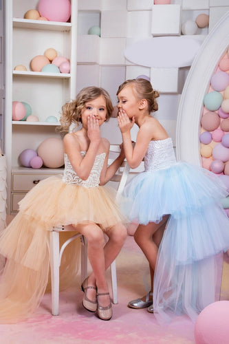 2019 Sweetheart A Line Flower Girl Dresses Tulle & Lace Asymmetrical