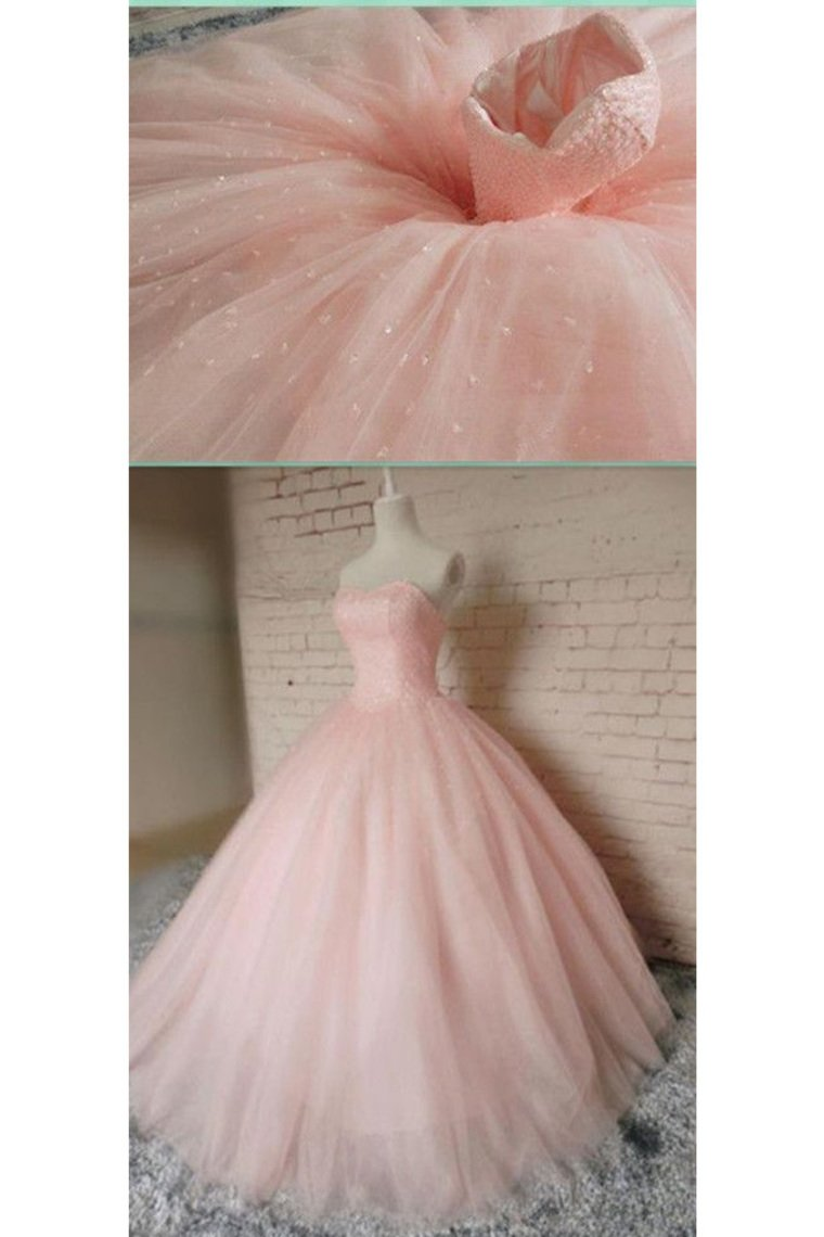 2019 Tulle Sweetheart Ball Gown Quinceanera Dresses Beaded Bodice