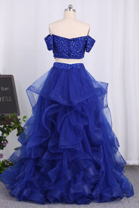 2019 New Arrival A Line Prom Dresses Tulle With Beaded Bodice