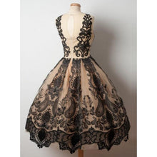 Load image into Gallery viewer, Homecoming Dresses A Line With Applique Tulle Scoop