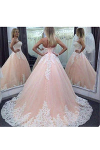 2019 Ball Gown Quinceanera Dresses Sweetheart Tulle With Applique Lace Up