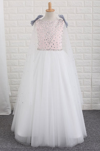 2019  Flower Girl Dresses Scoop With Beading A Line Floor Length