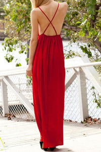 2019 Sexy Open Back Spaghetti Straps A Line Evening Dresses Chiffon