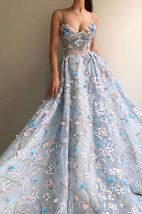 Spaghetti Straps Long Elegant Amazing Princess Prom Dresses Fashion Dresses