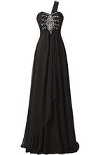 Load image into Gallery viewer, Long Chiffon A-line Beading Bridesmaid Dress Prom Gown SD072