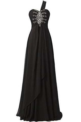 Long Chiffon A-line Beading Bridesmaid Dress Prom Gown SD072
