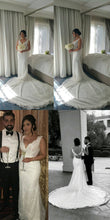 Load image into Gallery viewer, Shinny V-neck Sleeveless Mermaid Lace Beaded Wedding Dresses WD21