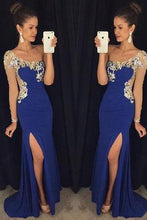 Load image into Gallery viewer, One Shoulder Split Long Chiffon Prom Dresses Evening Dresses RS553