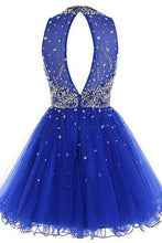 Load image into Gallery viewer, Short Tulle Beading Homecoming Dress Prom Gown RS214