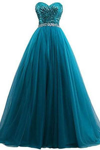 Sweet 16 Tulle Sequin Ball Gown Prom Dresses for Quinceanera RS210