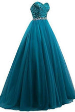 Load image into Gallery viewer, Sweet 16 Tulle Sequin Ball Gown Prom Dresses for Quinceanera RS210