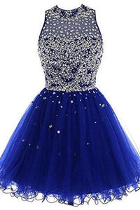 Short Tulle Beading Homecoming Dress Prom Gown RS214