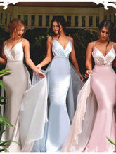 Load image into Gallery viewer, Pretty Spaghetti Straps Detachable Prom Dress with Pleats 9117
