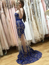 Load image into Gallery viewer, Fabulous Sweetheart Strapless Floor-Length Sheath Prom Dresses with Lace Pearls Sash RS763