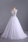 2019 Wedding Dresses Sweetheart Ball Gown Tulle With Beading And Sash