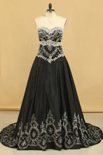 Load image into Gallery viewer, 2019 Quinceanera Dresses Ball Gown Sweetheart Satin With Beading And Embroidery