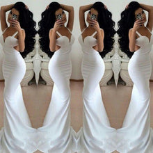 Load image into Gallery viewer, White Prom Dresses 2019 Long Trumpet/Mermaid Straps Chiffon Prom Dresses RS668