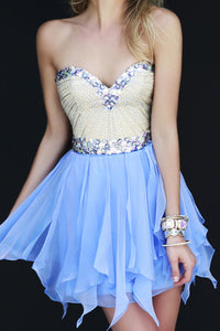 2019 Stunning Homecoming Dresses Sweetheart A Line Short/Mini With Beads New Arrival