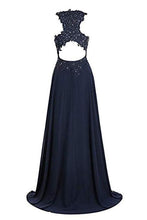 Load image into Gallery viewer, A Line Ombre Lace Appliques Prom Dresses Long Cheap Evening Dresses RS851