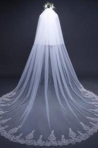 Cathedral Tulle Lace Ivory Wedding Veil Bridal Veil Wedding Veil RS288
