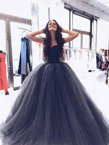Ball Gown Burgundy Tulle Strapless Sweetheart Prom Dresses Quinceanera Dresses RS696