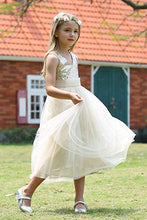 Load image into Gallery viewer, Cute Sweetheart Sequins Empire Tulle Straps Flower Girl Dresses Child Dresses FG1004