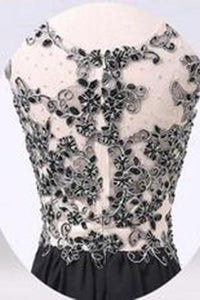 New Arrival Black Appliques prom dresses prom Dress RS569