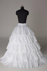 Fashion Wedding Petticoat Accessories 5 layers White Floor Length FU05