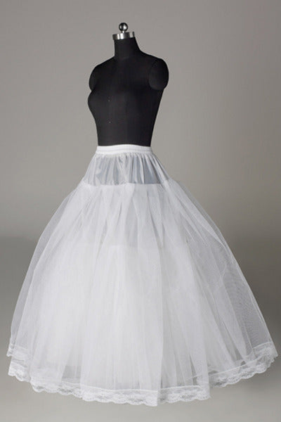 Women Tulle/Polyester Floor Length 3 Tiers Petticoats
