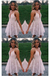 Mini Pink A Line Spaghetti Strap Short Prom Dresses Homecoming Party Dress RS753