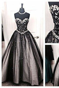 New Design Sequin Shiny Long Prom Dresses A-neck Sweetheart Prom Dresses RS549