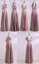 Load image into Gallery viewer, Simple New Arrival Backless Satin Long Bridesmaid Dresses Evening Party Dresses BD1008