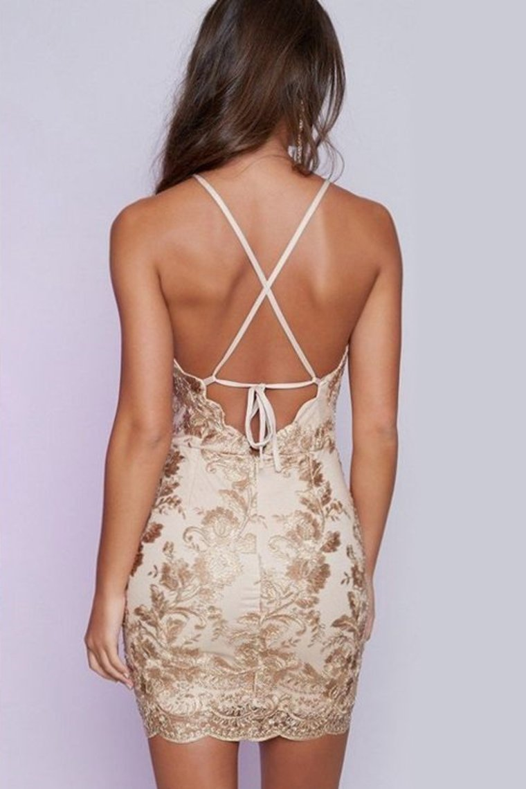 2019 Spaghetti Straps Homecoming Dresses Chiffon With Applique Open Back