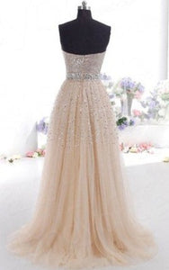 Hi Girls Exquisite Sweetheart Tulle Long Prom Dresses 2019 Party Gowns RS771