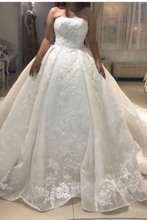Load image into Gallery viewer, Strapless Ball Gown Ivory Glorious Wedding Dresses New Arrival