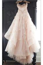 Load image into Gallery viewer, 2019 Sweetheart Wedding Dresses A Line Tulle With Ruffles And Handmade Flowers
