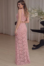 Load image into Gallery viewer, 2019 Evening Dresses Sheath/Column Scoop Lace Floor-Length