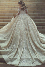 Load image into Gallery viewer, Gorgeous Beautiful Modest Lace Ball Gown Long Sleeves Wedding Dresses