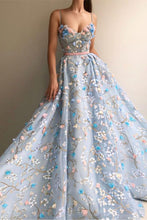 Load image into Gallery viewer, Spaghetti Straps Long Elegant Amazing Princess Prom Dresses Fashion Dresses