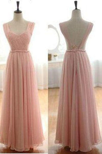 Custom Blush Pink Sexy Prom Dress Gown Backless Prom Dresses Long Bridesmaid Dresses RS536