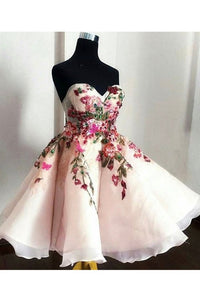2019 Homecoming Dresses Sweetheart A Line With Applique And Beading