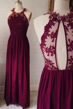 Load image into Gallery viewer, Lace Backless Fashion Prom Dress Sexy Party Dress Custom Made Evening Dress RS428
