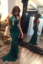 Load image into Gallery viewer, Green Mermaid Backless Prom Dresses,Sexy Evening Gowns For Teens