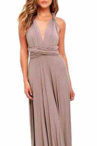 Sexy Variety-Style Elegant V-Neck Pleated Pleated Evening Sleeveless  Back Cross Bridesmaid  Dresses