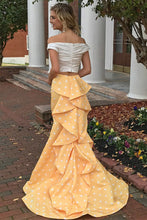 Load image into Gallery viewer, Pretty Ivroy And Yellow Long Mermaid Modest Prom Dresses Prom Gowns